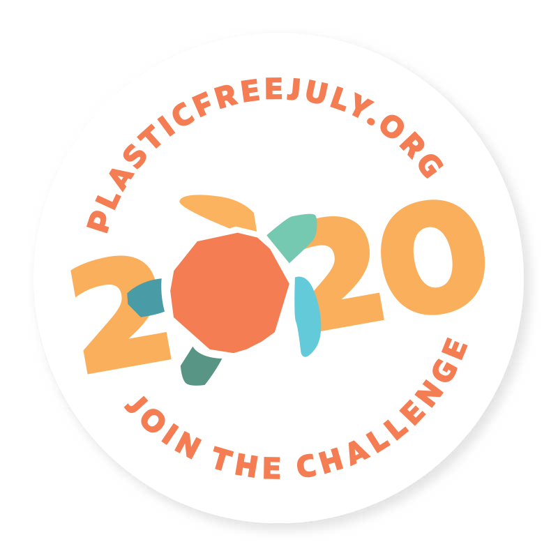 badge plastic free july 2020
