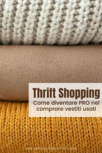 maglioni thrift shopping