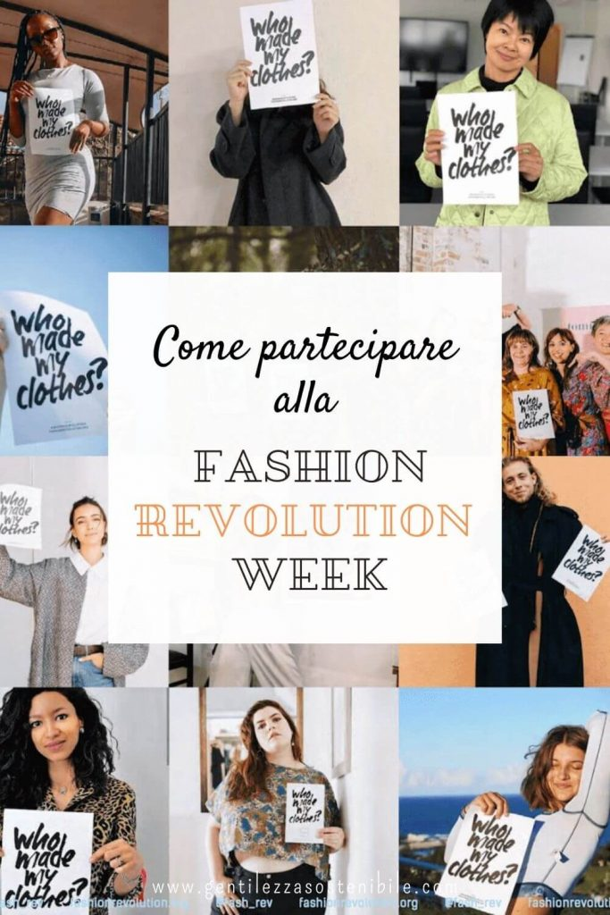Come partecipare alla Fashion Revolution Week 2021